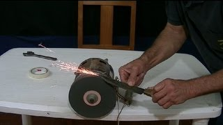 COMO HACER UN AFILADOR DE CUCHILLOS (motor de lavadora) HOW TO KNIFE SHARPENER