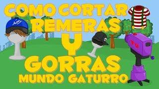 getlinkyoutube.com-Cortar remera & Gorras Mundo Gaturro (2014 Bien explicado).