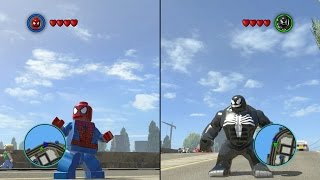 getlinkyoutube.com-LEGO Marvel Super Heroes - Spider-Man vs Venom - CoOp Fight | Free Roam Gameplay [HD]