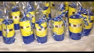 getlinkyoutube.com-Como fazer minions para lembrancinhas! (de papel higienico)