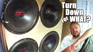 "getlinkyoutube.com-Turn Down For What 4 18"" SUBWOOFERS | Steve's Loud BASS VAN Install & 8000 Watt Hifonics Sampson Amp"