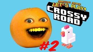 getlinkyoutube.com-Annoying Orange plays Crossy Road #2: Get your GOAT!