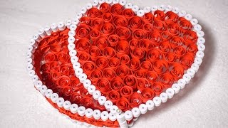 getlinkyoutube.com-Quilling Gift Box Ideas| DIY Heart for Valentine | HandiWorks #53