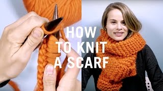 getlinkyoutube.com-How to Knit for Beginners - Very Easy Scarf Tutorial