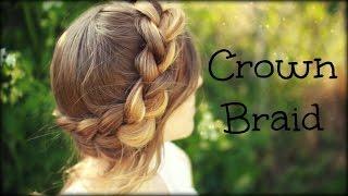 getlinkyoutube.com-How to do a Crown Braid | Halo Braid | Braidsandstyles12