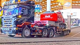 getlinkyoutube.com-RC Truck Action as it´s BEST! MAN! Scania! MB Arocs! Trailer! Transportation! Friedrichshafen 2016!