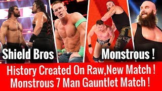 History Created ! 7 Man Gauntlet Match ! New Match At Chamber ! WWE Raw 2/19/18 Highlights 19 Feb
