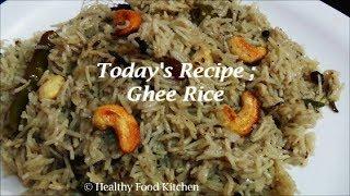 getlinkyoutube.com-Ghee Rice Recipe by Healthy Food Kitchen