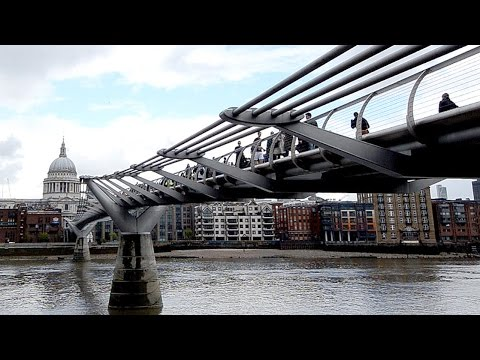 The Millennium Bridge or Millennium Foot Bridge, London England, A Must For Britain Travel
