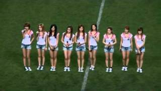 getlinkyoutube.com-20090808 Tell Me Your Wish Genie + Gee   SNSD at JOMO Cup Pro Football Korea Japan All Star Match