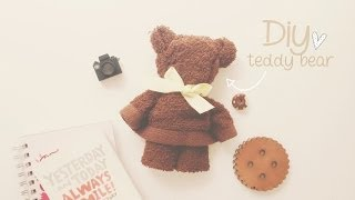 getlinkyoutube.com-DIY: OSITO CON TOALLA (TEDDY BEAR) ♥