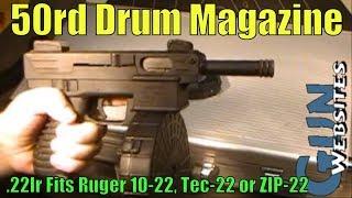50rd Drum Magazine .22lr Ruger 10-22