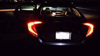 2016 Honda Civic Touring Sound Quality and Walk-Through at night