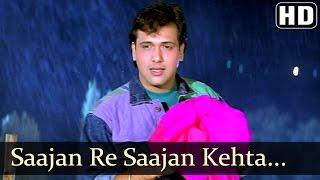 getlinkyoutube.com-Saajan Re Saajan Kehta Hai Saawan - Govinda - Karishma Kapoor - Dulaara - Bollywood Monsoon Song