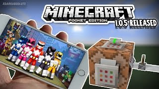 MINECRAFT PE 1.0.5 OFFICIALLY RELEASED!! SKIN PACK GIVEAWAY!! (Description)