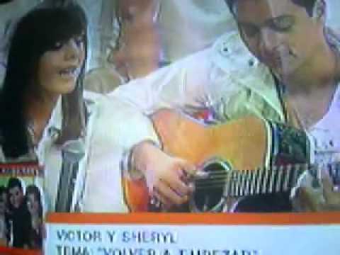 Victor y Sheryl Cantando en Portadas antes del Estreno de Somos tu y yo Un Nuevo Dia 17- 08 -09