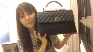 getlinkyoutube.com-Chanel Unboxing: Coco Handle Flap Bag and Chanel Boy Goat Hair