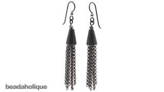 getlinkyoutube.com-How to Make Chain Tassel Earrings