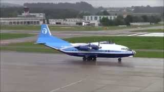 getlinkyoutube.com-R.I.P. ( amazing sound ) Antonov-12 push back, taxiing and take off at ZRH