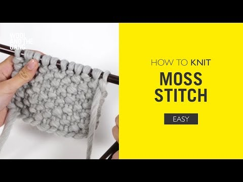 how to knit moss stitch