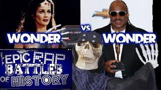getlinkyoutube.com-Wonder Woman vs Stevie Wonder. Epic Rap Battles of History REACTION!!!