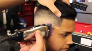 getlinkyoutube.com-Mid Fade x Comb Over