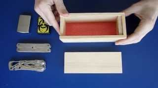 getlinkyoutube.com-Haz una Caja con Cerradura Secreta ( 2º modelo ) / secret lock box