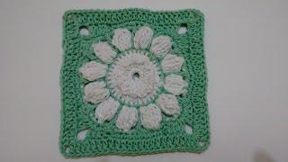 getlinkyoutube.com-Flor de Crochê para Aplicação (no Jogo de Banheiro Verde Água)