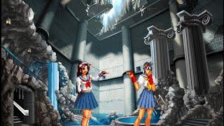 getlinkyoutube.com-[KOF VS. Street Fighter] Athena VS. Sakura