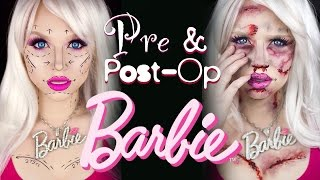 getlinkyoutube.com-Pre and Post-Op Plastic Surgery Barbie - Special FX Makeup Tutorial