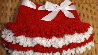 getlinkyoutube.com-Crochet Faldita San Valentin