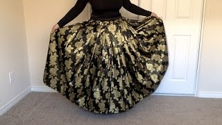getlinkyoutube.com-DIY Maxi Skirt Tutorial : How to make a Pleated Maxi Skirt Zip, ( Method )