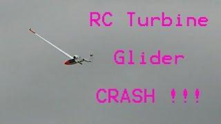 getlinkyoutube.com-GIGANTIC RC TURBINE GLIDER CRASH !!!
