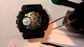 Замена батарейки на Casio G-Shock GA-100, battery replacement on Casio G-Shock GA-100