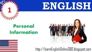getlinkyoutube.com-Learn English Vocabulary with Pictures 01: Personal Information