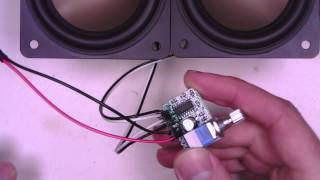 Trying out a PAM8403 audio amplifier module