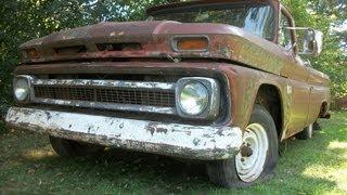 getlinkyoutube.com-Bagged 66 Chevy c10 pickup Rat Rod Project