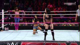 getlinkyoutube.com-WWE RAW 10.13.14 AJ Lee & Layla vs. Paige & Alicia Fox (720p)