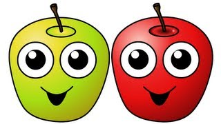 "getlinkyoutube.com-""Apples Are Yummy"" - Learn Fruits & Vegetables, Kids Song for Babies & Toddlers"