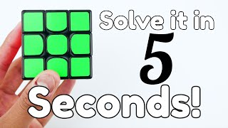 getlinkyoutube.com-How to Solve a Rubik's Cube in 5 Seconds! (EASY)