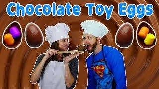 getlinkyoutube.com-How To Make Kinder Toy Eggs DIY Chocolate Surprise Egg Toys Tutorial Huevos Sorpresa