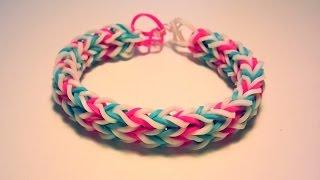 getlinkyoutube.com-Comment faire un bracelet double avec des élastiques sans machine