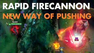 Rapid Firecannon - Attacking turrets from out of their range!!