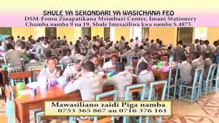 TANGAZO FEO GIRLS SEC SCHOOL