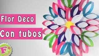 getlinkyoutube.com-DIY: Flor DECO de tubos de papel! (decora tu recamara)