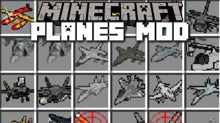 getlinkyoutube.com-Minecraft PLANE MOD / FLY HELICOPTER, PLANE & TANK!! Minecraft