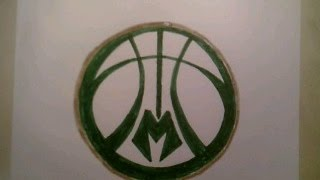 How To Draw Milwaukee Bucks Logo Sign Easy Step By Tutorial For Begainners