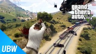 getlinkyoutube.com-GTA 5 스파이더맨 모드로 할 수 있는 재미있는 놀이들 - GTA 5 Funny Moments: Grappling Hook Mod
