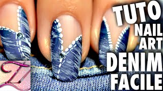 getlinkyoutube.com-Tuto nail art blue jean / denim : facile et rapide pour débutants