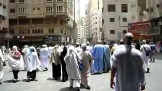 A walk from  Al-Masjid al-Haram to hotel , Mecca